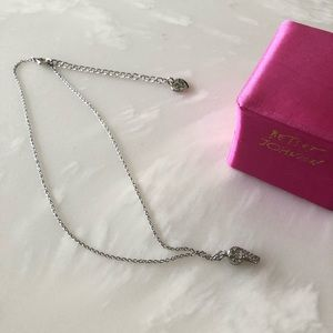 Betsey Johnson Crystal Whistle Necklace